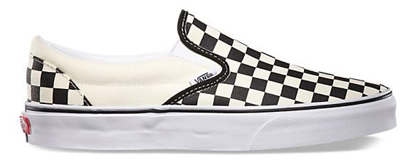 Vans CHECKERBOARD SLIP-ON - https://www.vans.com/shop/shoes-classics-classic-slip-on/checkerboard-slip-on-black-off-white-check?cm_mmc=LinkShare-_-Affiliate-_-TnL5HPStwNw-_-321433&utm_source=linkshare&utm_medium=affiliate&utm_campaign=TnL5HPStwNw&ranMID=24747&ranEAID=TnL5HPStwNw&ranLinkID=10-1&ranSiteID=TnL5HPStwNw-UFPDCTkao42smO_LT.k4Ig