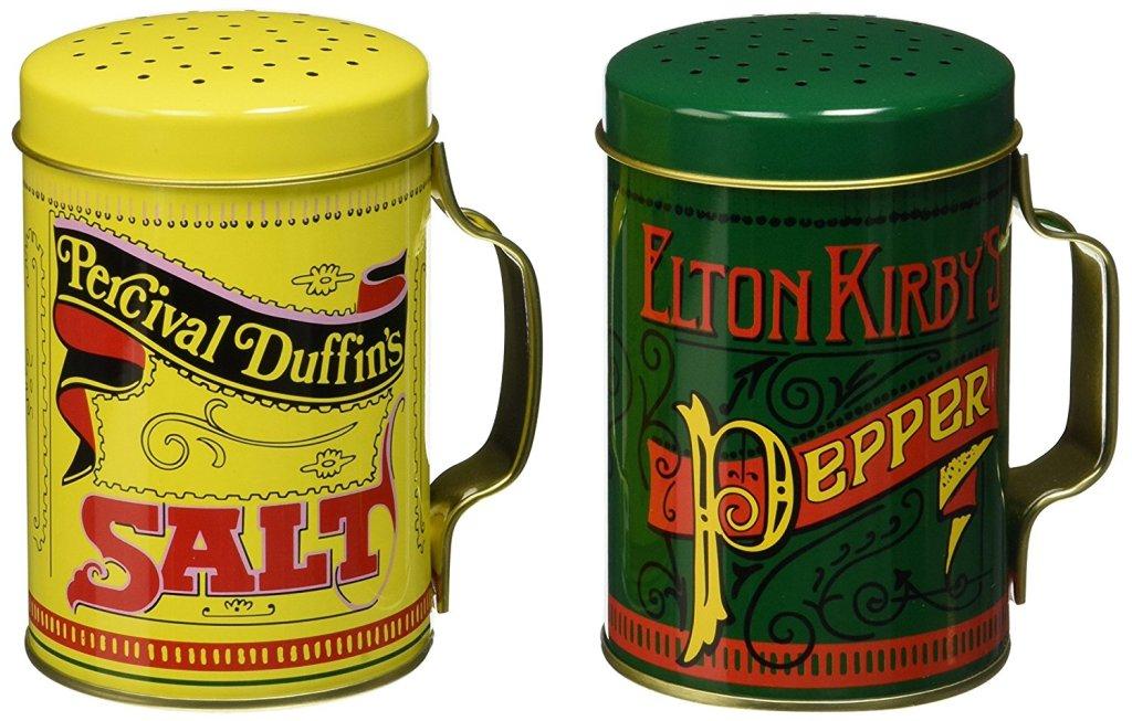 retro salt and pepper shakers
