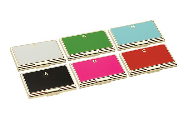 kate spade initial card holder