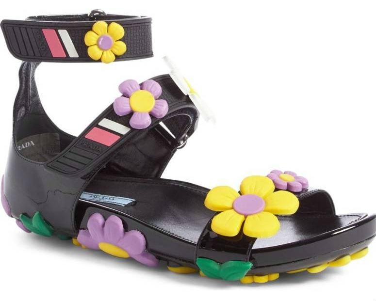 Prada Floral Sandal