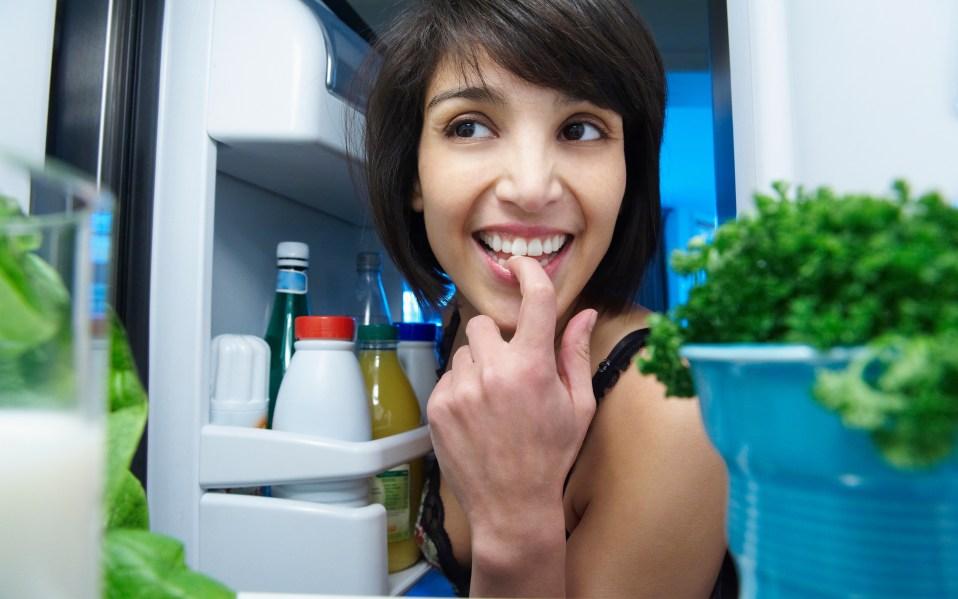 healthy food fridge