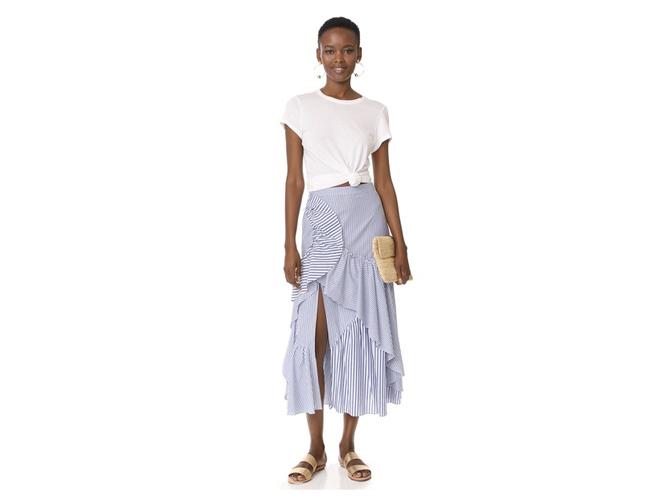 Tanya Taylor Menswear Ruffled Skirt