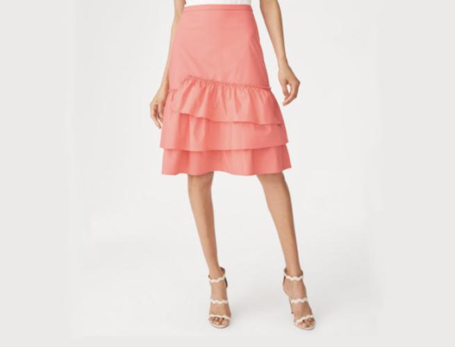 Club Monaco Loudie Ruffle Skirt