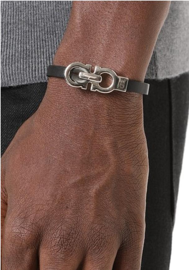 Ferragamo Men's Buckle Bracelet