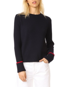 Ribbed Knit Sweater Women's