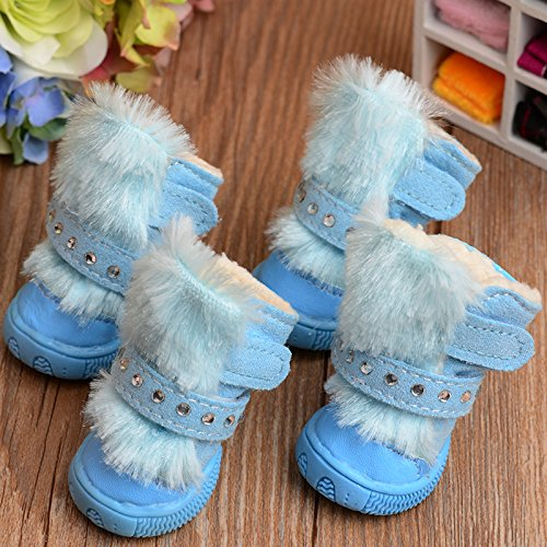 dog snow boots winter shoes