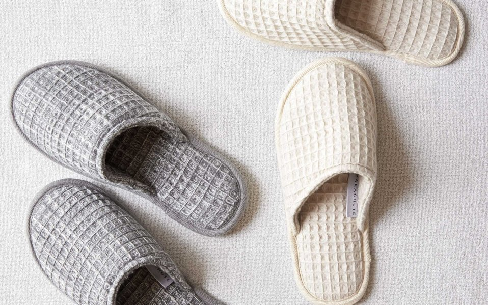 Waffle Weave Slippers