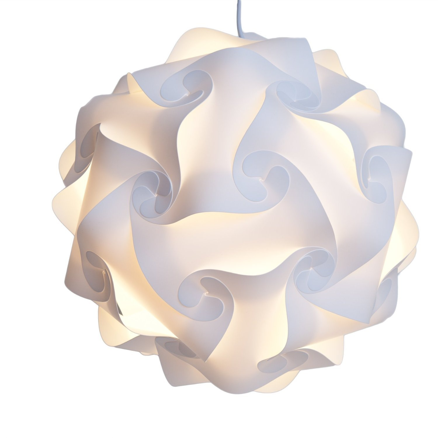 white lamp shade infinity lights