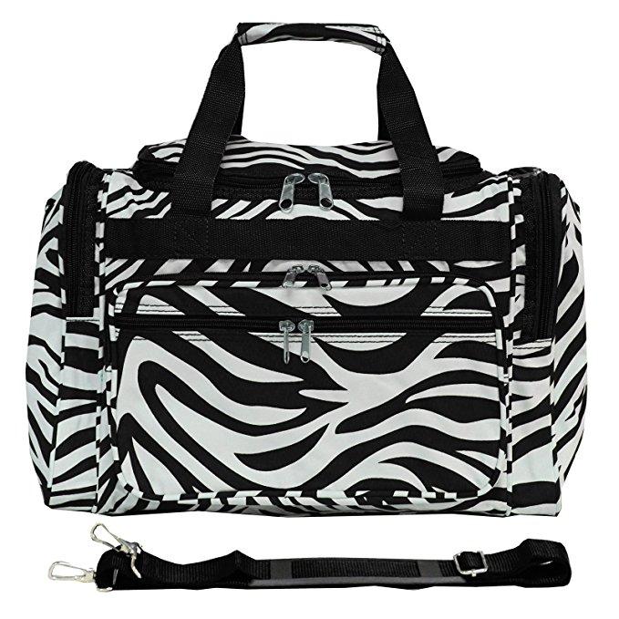 personal item carry on zebra world traveler duffle bag
