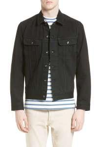 Men's Black Denim Jacket APC