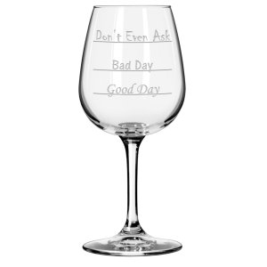 Wine Glass National Etching