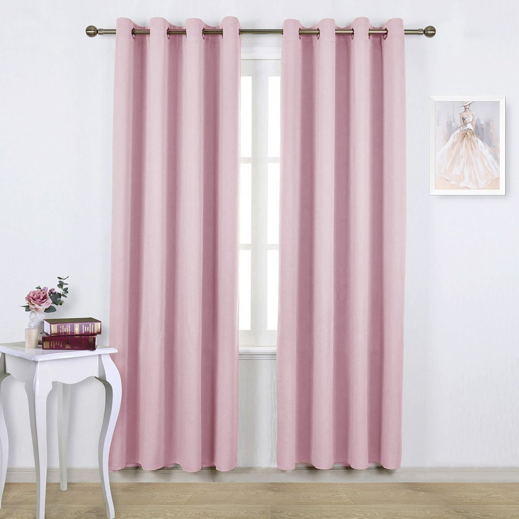 Pink Bedroom Curtains Amazon
