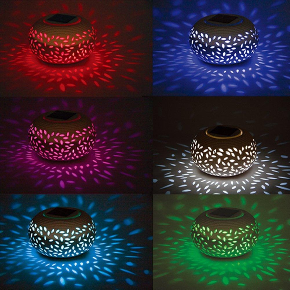 IREALIST Ceramic Night Light Color Changing LED Lights