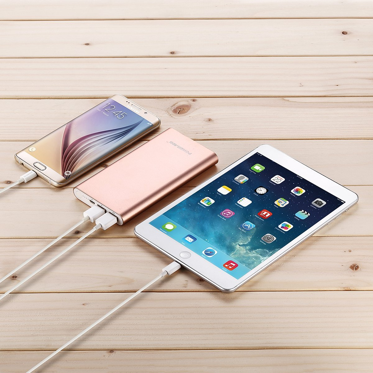 Rose Gold Portable Charger