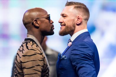 Floyd Mayweather Jr. v Conor McGregor boxing photocall, London, UK - 14 Jul 2017