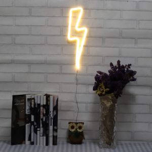 neon signs lightning bolt