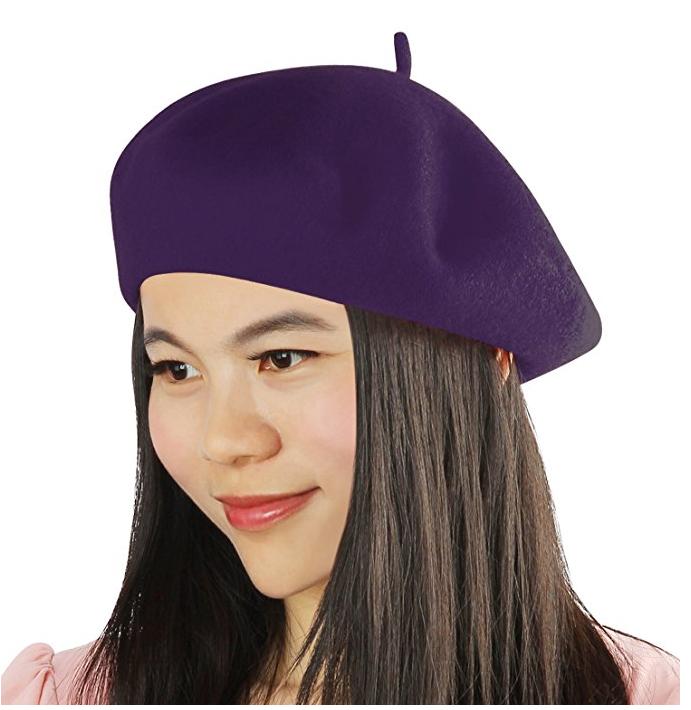 Purple french beret