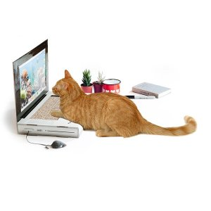 cat laptop scratching pad, gifts for cat lovers