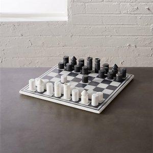 CB2 Marble Chess Set