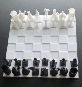 Etsy Laboratory Themed Chess Set, unique chess sets