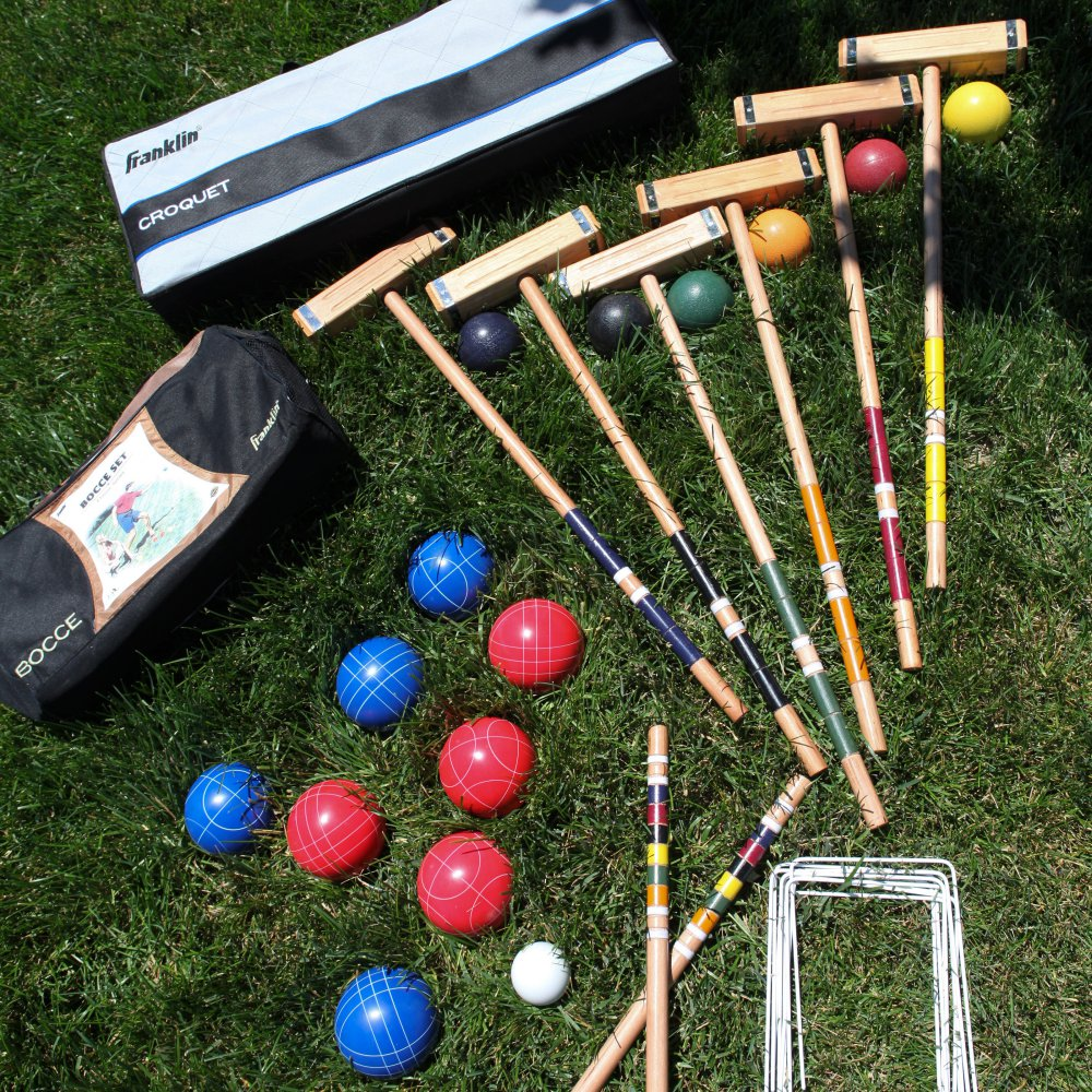 Franklin Bocce Ball and Croquet Set
