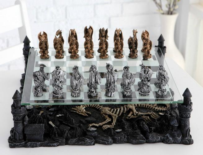 unique chess set 3D CHH Dragon