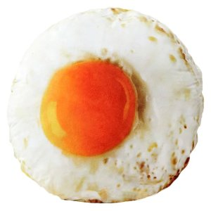 fried egg pillow