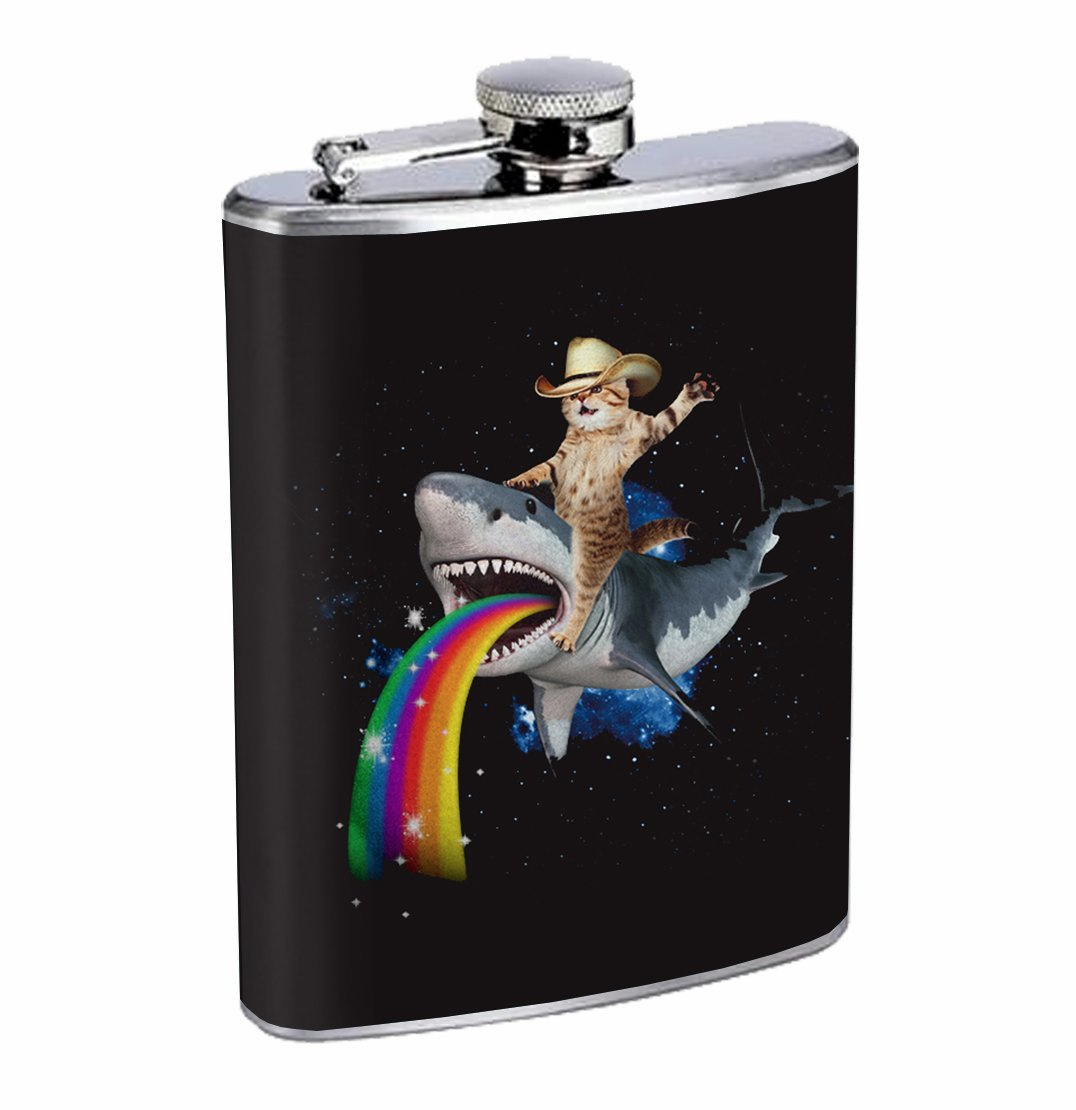 cat day international best gifts for cat lovers flask shark