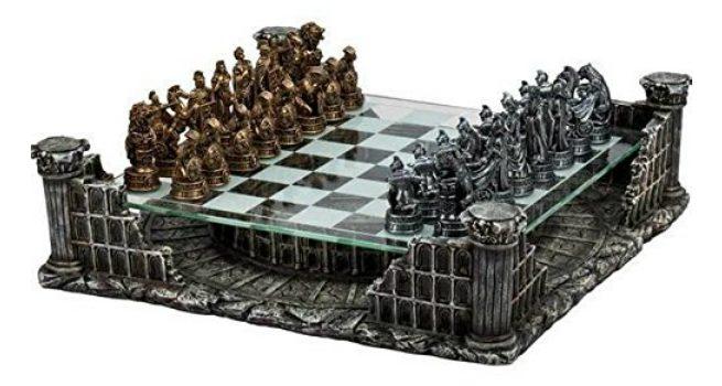 unique chess set CHH Roman Gladiators 3D Chess Set