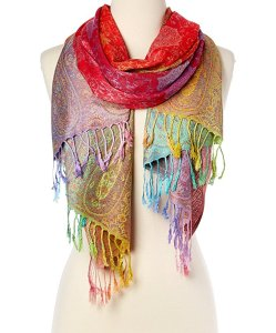 good time Fashion Women's Silk Scarf Luxury Satin Shawl Wraps
