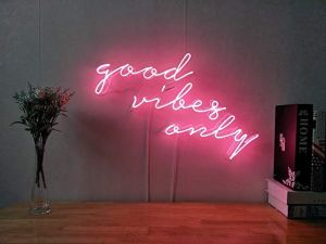 neon signs good vibe only