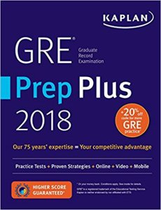 GRE practice prep study guide Kaplan 2018