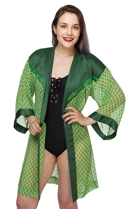 Poison Ivy Chiffon Cover Up Robe
