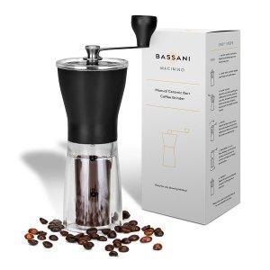 Manual Ceramic Burr Coffee Grinder