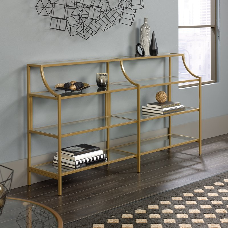 Gold Regency Console Table