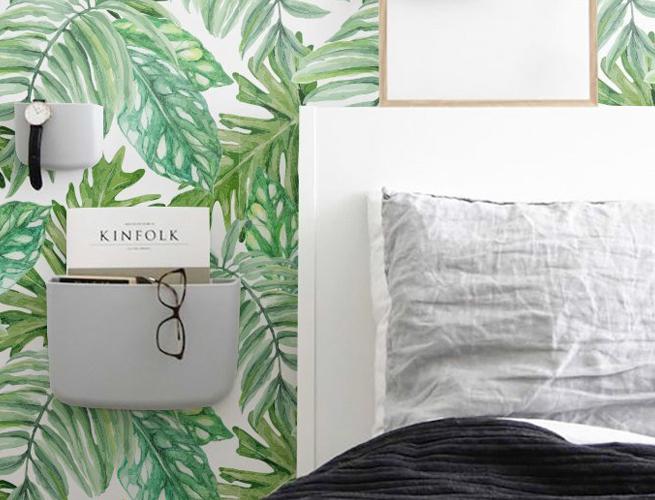 Monserta Palm Print Wall Paper