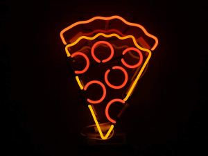 neon signs pizza slice