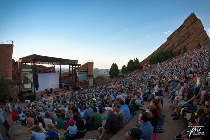 film on the rocks red rocks denver colorado outdoor movies