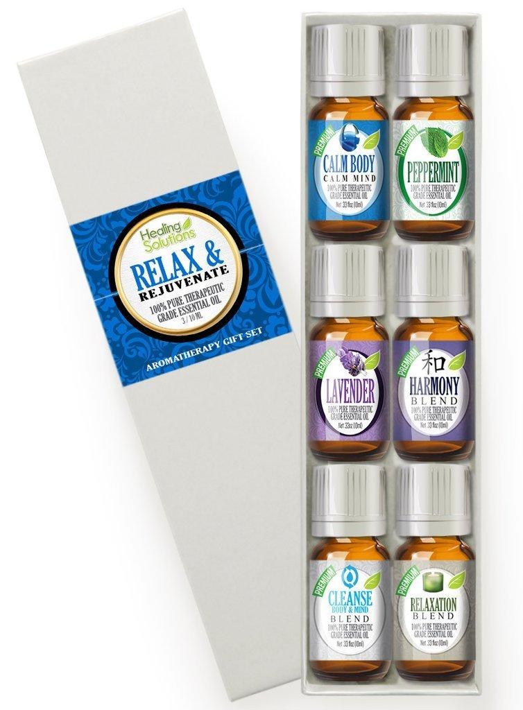 best essential oil blends relax set