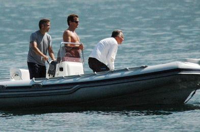George Clooney and Rande Gerber on holiday in Laglio, Lake Como, Italy - 11 Jul 2008