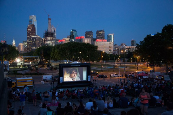 philly outdoor movies rocky steps