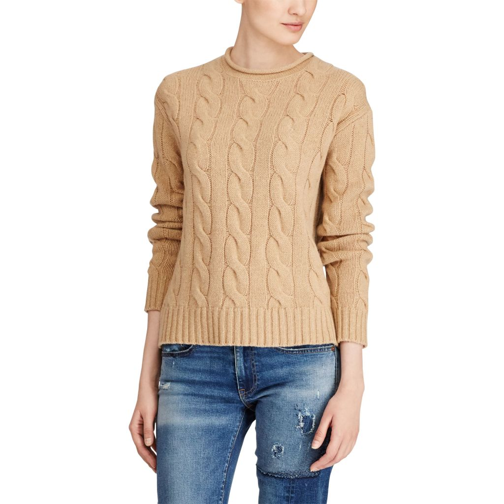 ralph lauren cable knit cashmere sweater oprah