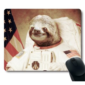 sloth astronaut mousepad
