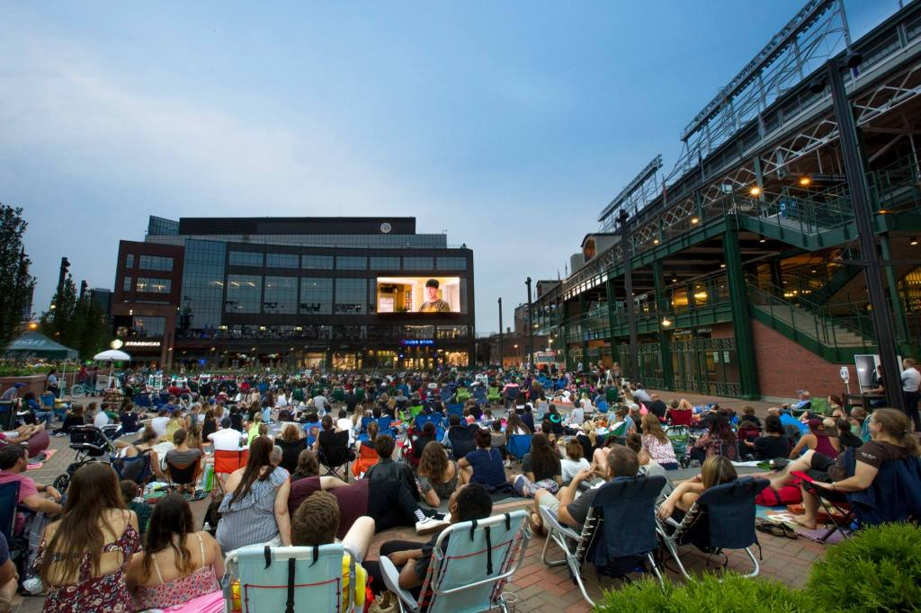 wrigley chicago cubs ferris bueller outdoor movies