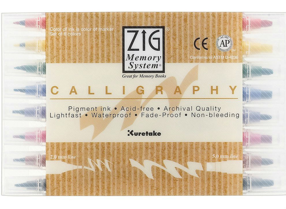 Zig Memory System Calligraphy Markers