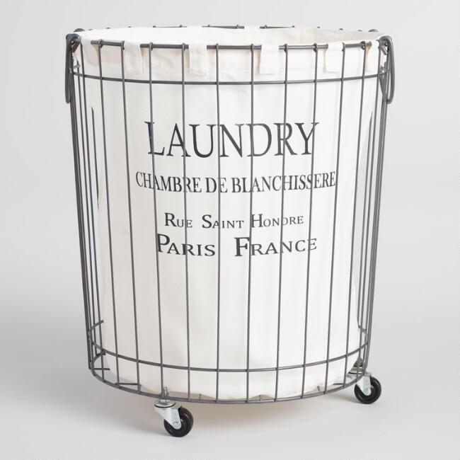 World Market Parisian Laundry Hamper