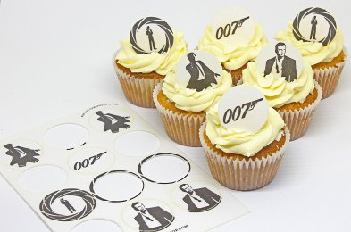james bond cake topper