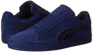 puma navy suede sneakers