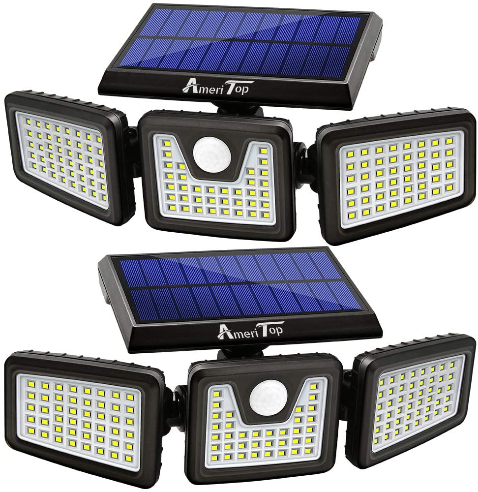 Two AmeriTop big wall-mountable solar lights, best solar lights