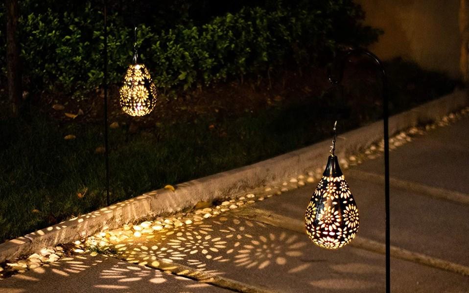 Two BOAER Hanging Solar Lights illuminate